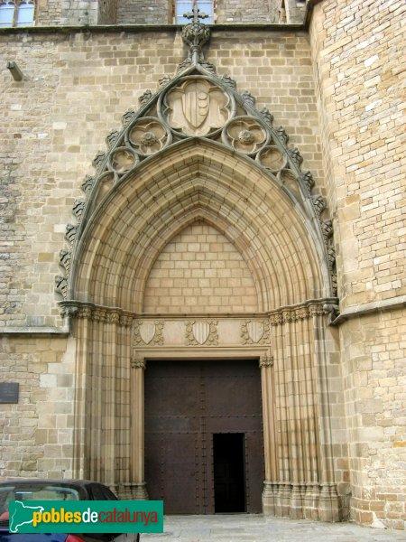 Barcelona - Monestir de Pedralbes, portada de l'església