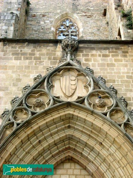 Barcelona - Monestir de Pedralbes, detall portada