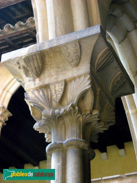 Barcelona - Monestir de Pedralbes, capitell del claustre