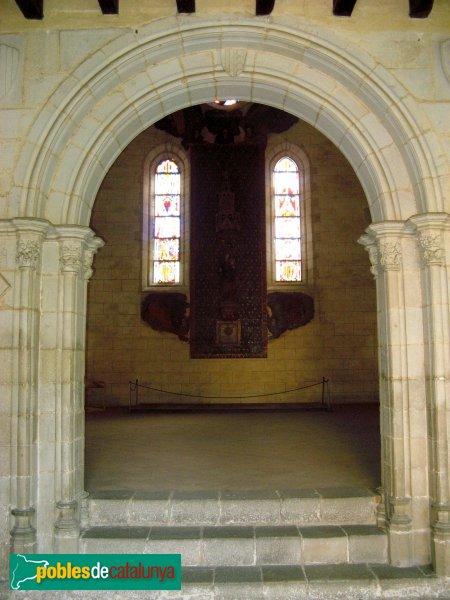 Barcelona - Monestir de Pedralbes, porta de la sala capitular