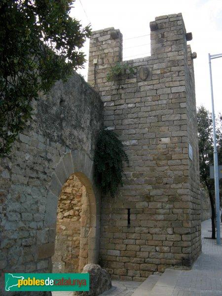 Barcelona - Monestir de Pedralbes, entrada nord del recinte