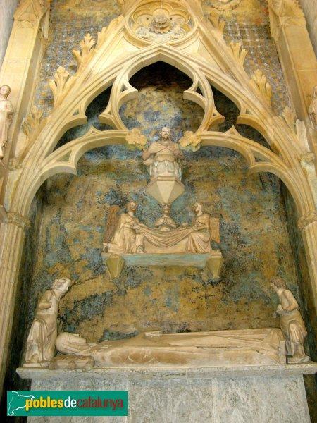 Barcelona - Monestir de Pedralbes, sepulcre de la reina Elisenda