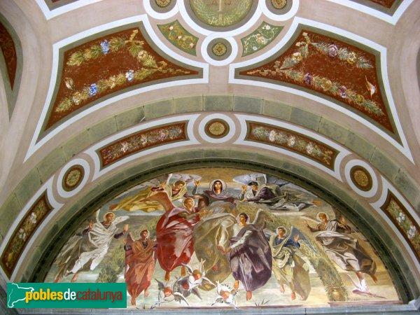Barcelona - Església de Montserrat, pintures de Josep Obiols