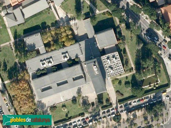 Barcelona - Facultat de Dret, vista aèria