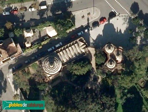 Barcelona - Pavellons Güell, vista aèria