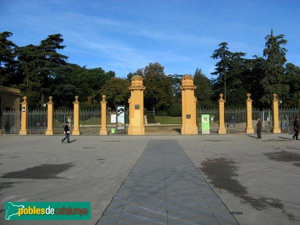 Barcelona - Palau de Pedralbes, porta del recinte