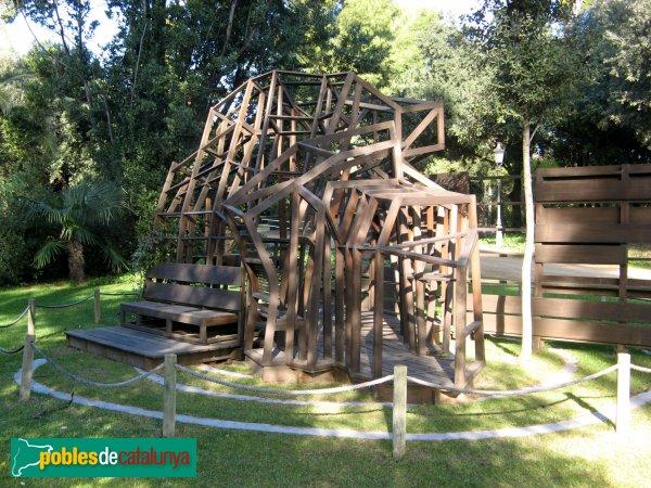 Barcelona - Jardins del Palau de Pedralbes - Caseta de Jocs (Miralles&Tagliabue)