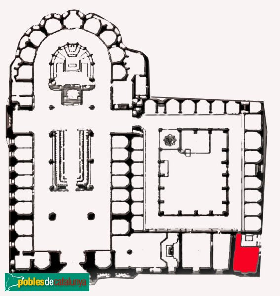 Barcelona - Situació de la capella de Santa Llúcia