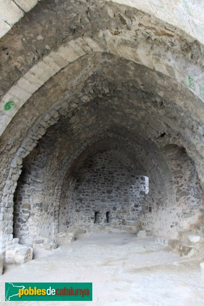 Arbúcies - Castell de Montsoriu, sala gòtica