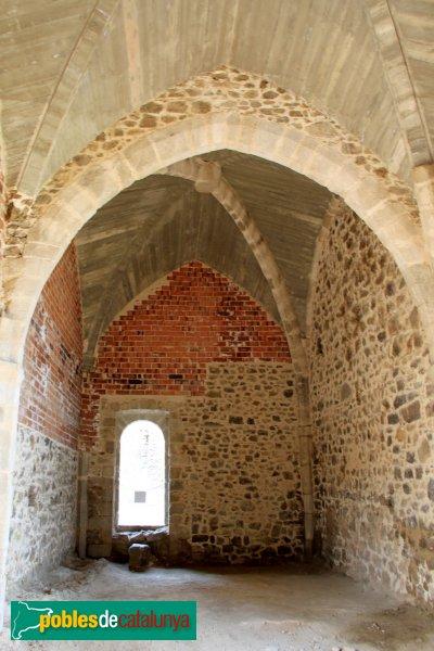 Arbúcies - Castell de Montsoriu, sala reconstruïda