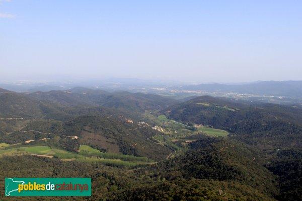 Arbúcies - Panoràmica des del castell de Montsoriu