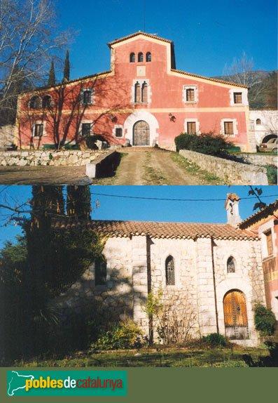 Riells i Viabrea - Can Plana, masia i església