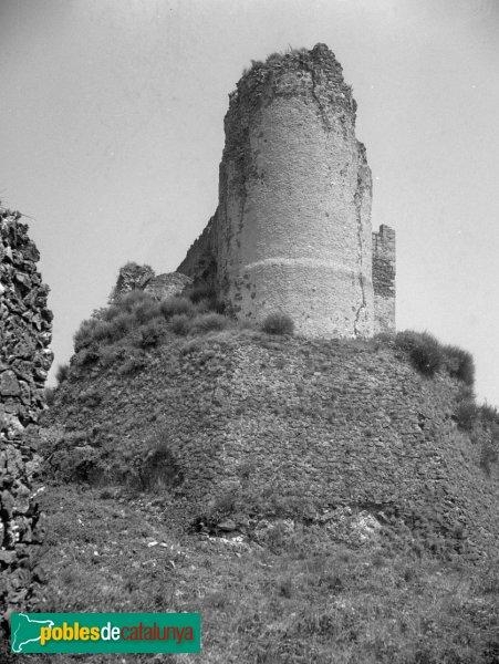 Arbúcies - Castell de Montsoriu, torre mestra abans de la restauració