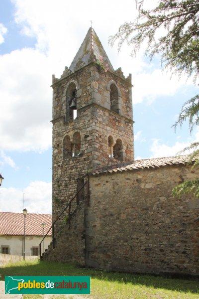 Sant Feliu de Buixalleu - Església de Sant Feliu, campanar romànic