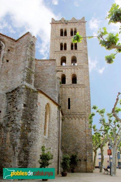 Breda - Monestir de Sant Salvador, campanar romànic