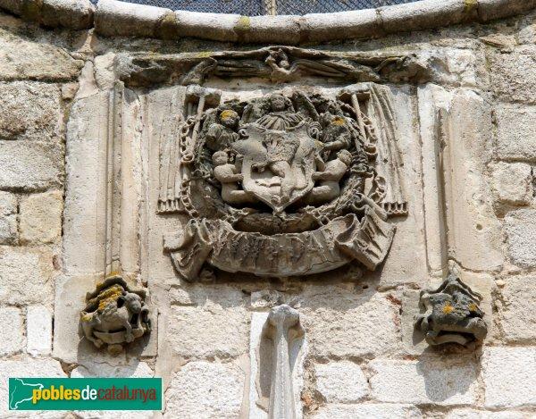 Breda - Església de Sant Salvador, escut de l'abat Sampsó
