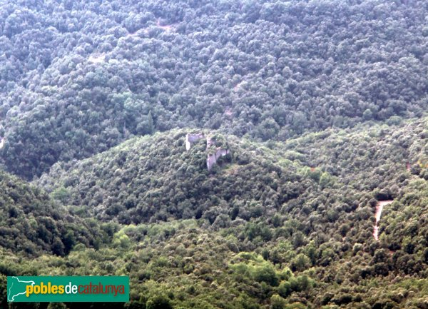 Susqueda - Castell de Fornils, des del Far