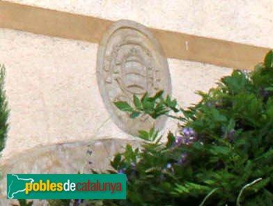Llançà - Palau de l'Abat, escut de Sant Pere de Rodes