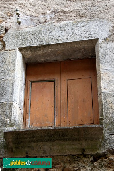 Les Escaules - Volta del carrer de l´Oli, llinda de 1644