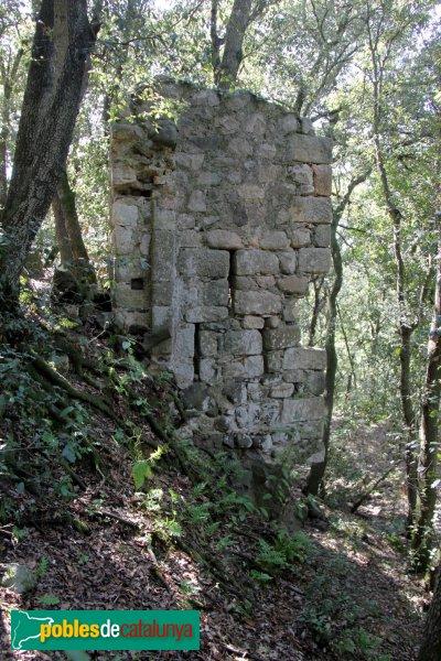 Riudarenes - Castell de l´Esparra, torre exterior