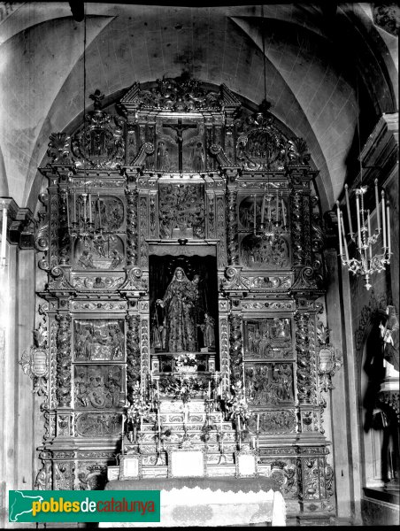 Piera - Església de Santa Maria, retaule del Roser