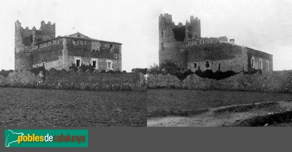 Maçanet de la Selva - Torre de Marata, abans i després de l'incendi de 1923
