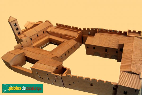Vilabertran - Maqueta del monestir