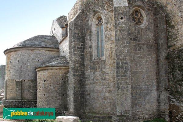 Vilabertran - Monestir, absis i capella dels Rocabertí