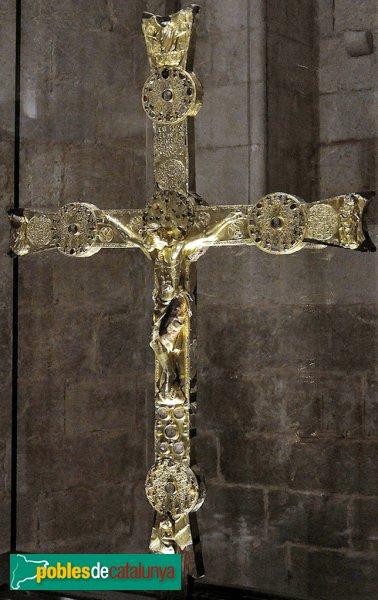 Vilabertran - Església de Santa Maria, creu gòtica