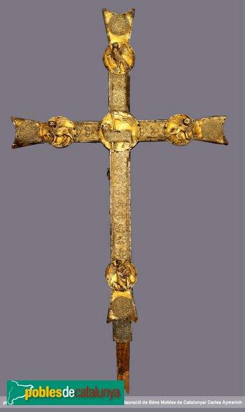 Vilabertran - Església de Santa Maria, creu gòtica (revers)