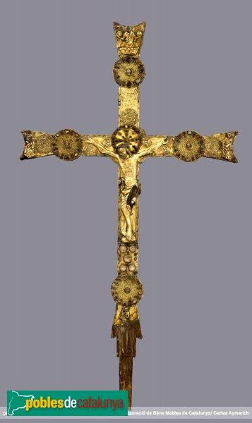 Vilabertran - Església de Santa Maria, creu gòtica (anvers)