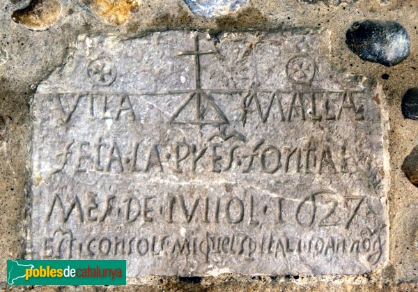 Vilamalla - Làpida de la font