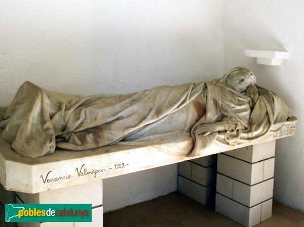 Figueres - Cementiri, estàtua de Maria Auter, de Venanci Vallmitjana, 1903