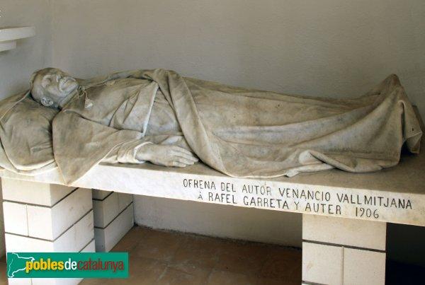Figueres - Cementiri, estàtua de Rafael Garreta, de Venanci Vallmitjana, 1906