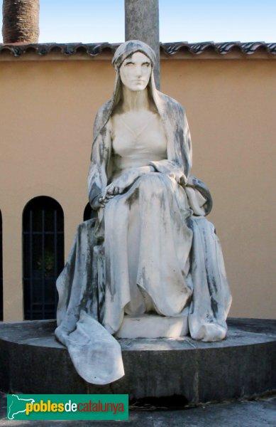 Figueres - Cementiri, estàtua de Josep Llimona