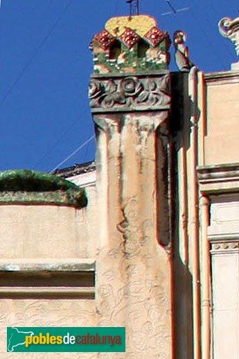 Figueres - Casa Salleres, detall coronament