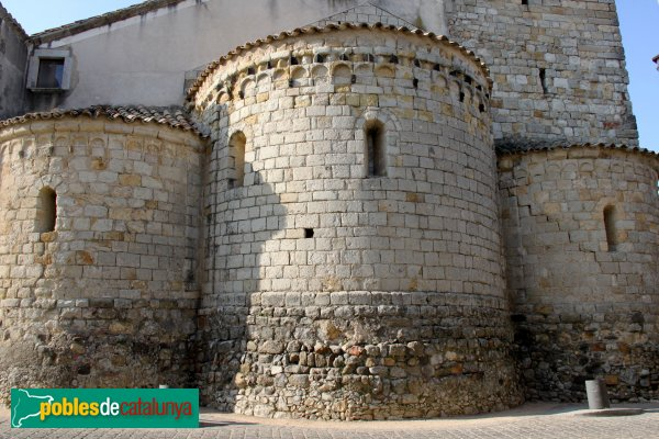 Caldes de Malavella - Església de Sant Esteve, absis