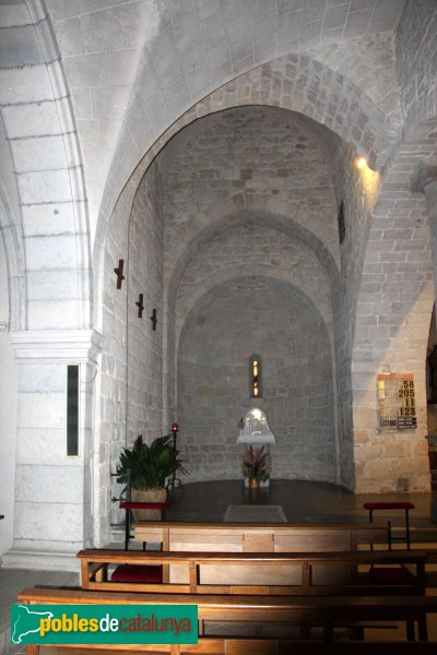 Caldes de Malavella - Església de Sant Esteve, absis lateral
