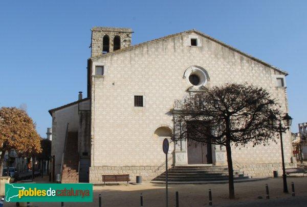 Caldes de Malavella - Església de Sant Esteve, façana