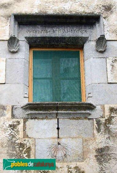 Riudellots de la Selva - La Torreponça , finestra de l'any 1566