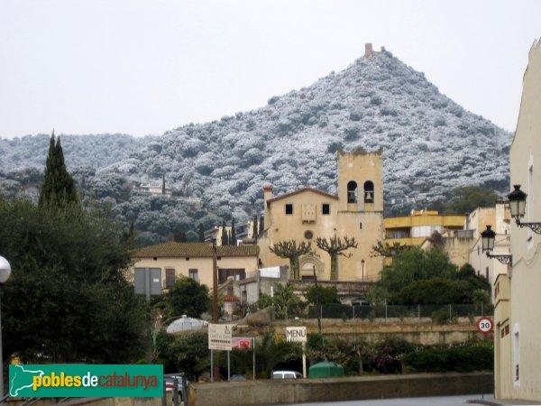 Cabrera de Mar - Castell de Burriac, des del poble