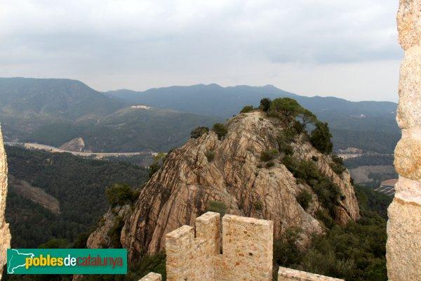 Santa Coloma de Farners - Castell de Farners, panoràmica de la torre