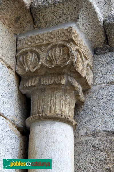 Santa Coloma de Farners - Sant Pere Cercada, capitell