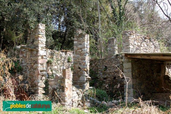 Sant Julià de Llor i Bonmatí - Molí de Sant Julià, ruïnes al costat del molí