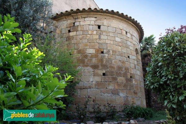 Mollet de Peralada - Absis de l'església de Sant Cebrià