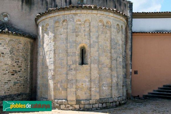 Amer - Monestir de Santa Maria, absis afegit al segle XII