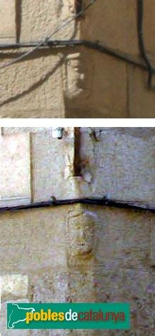 Castelló d´Empúries - Casa Joan de la Coloma, detall carassa