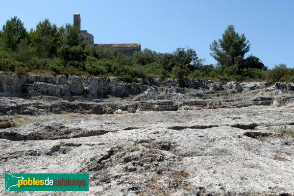 Olèrdola - Espai on hi havia el poblat