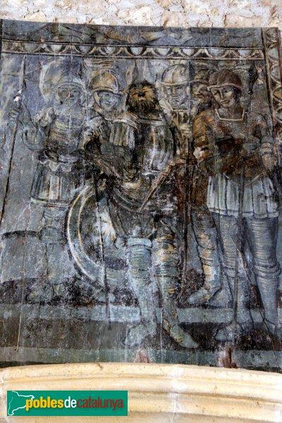Sant Martí Sarroca - Museu del Castell, taula del cavaller Lleó