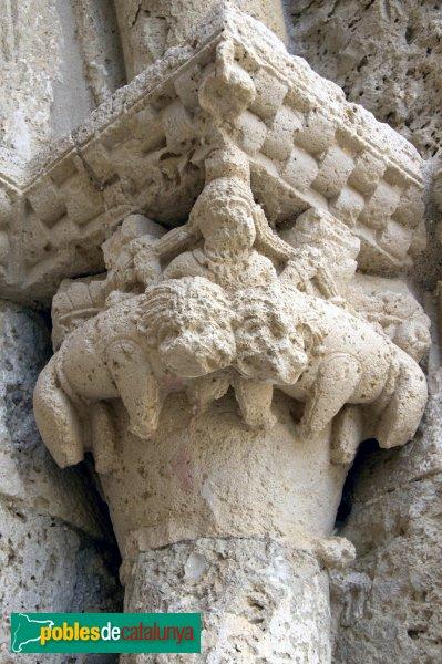 Sant Martí Sarroca - Església de Santa Maria, capitell portada